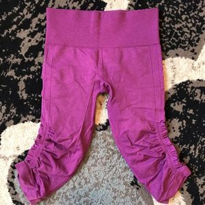 Lululemon In the Flow Crop Purple Pink 4 EUC